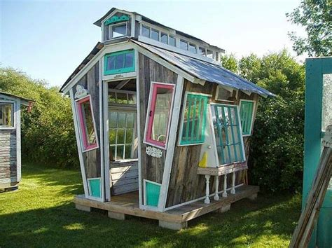 awesome backyard sheds the art of up cycling garden shed old windows bottles awesome random ideas