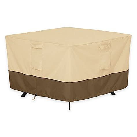 Large Patio Table Cover Buy Classic Accessories 174 Veranda Large Square Patio Table Outdoor Cover From Bed Bath Beyond