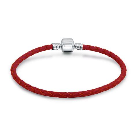 Gift Guide 2007 Inspiration Charity Bracelet 2 by Braided Leather Cord 925 Barrel Clasp Bracelet