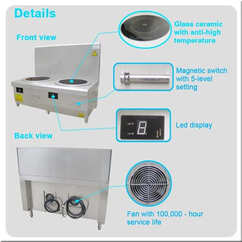 induction cooker low power consumption 2 burner commercial induction soup cooker 106700226