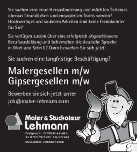 maler stuckateur stellenangebote maler stuckateur lehmann