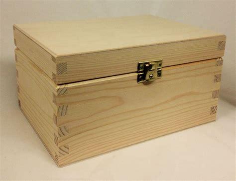 pine wood storage box large