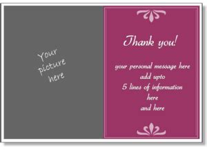 wedding photo thank you card template free personalized thank you card print a thank you greeting