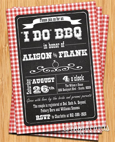 Wedding Invitations Bbq Theme