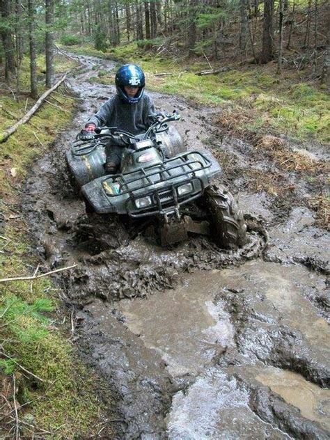 mudding four wheelers atv no matter what and mud on pinterest