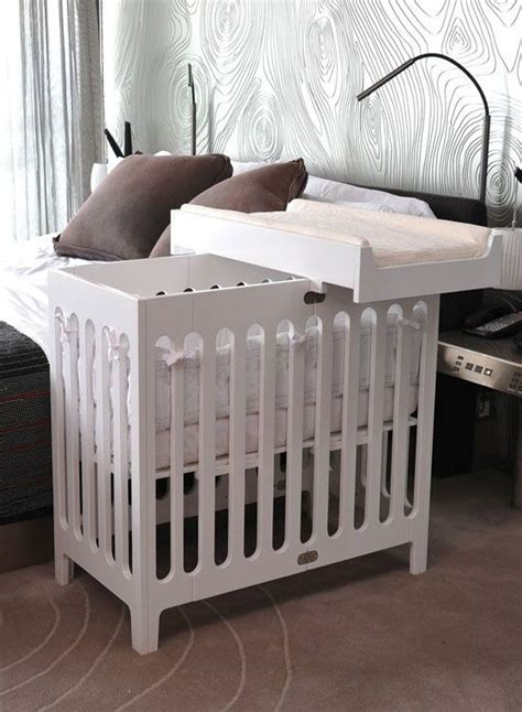 mini crib options  small nursery spaces  baby