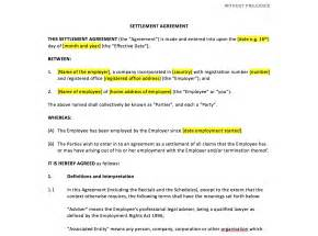 template settlement agreement settlement agreement template uk template agreements and