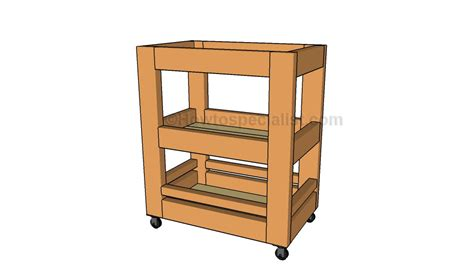 diy kitchen cart kitchen cart plans howtospecialist how to build step