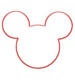 mickey mouse ears outline clipart