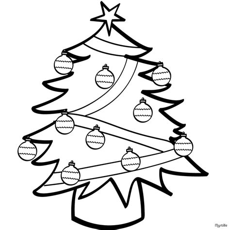 Decorated Christmas Tree Coloring Pages For Kids Decorated Tree Coloring Page