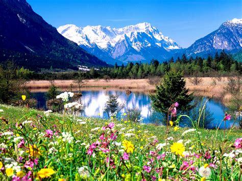 spring landscape beautiful spring landscape hd desktop background