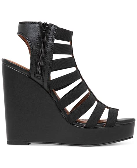 Sandal Wedges Wg12 Black 1 lyst lucky brand s riona stretch wedge sandals in black