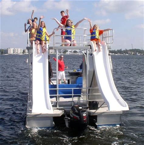 pontoon party boat with slide boat rentals orange beach al
