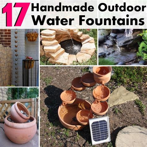 diy backyard water feature 17 really cool diy handmade outdoor water fountains diy home things