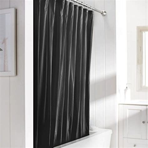 black shower curtain liner united linens 10 gauge heavy duty shower curtain liner