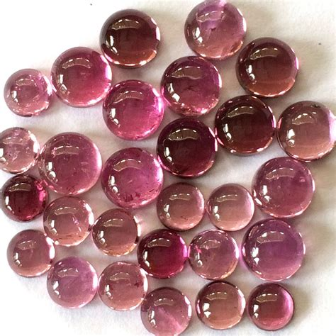 gemstone cabochon tourmaline pink 5mm for by