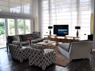 placing tv in front of window south florida family estate modern family room other