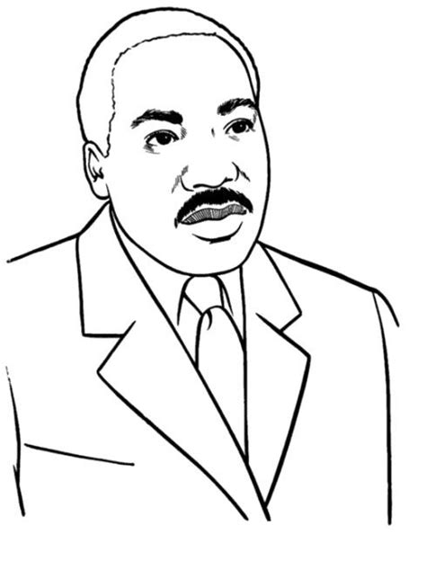 martinlutherking free colouring pages