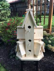 beautiful xtra large handcrafted unfinished wooden bird house
