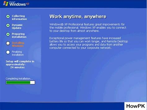 xp setup guide steps of how to install windows xp beginners guide howpk