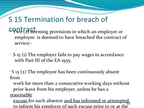 Breach Of Contract Letter Malaysia employee termination laws in malaysia