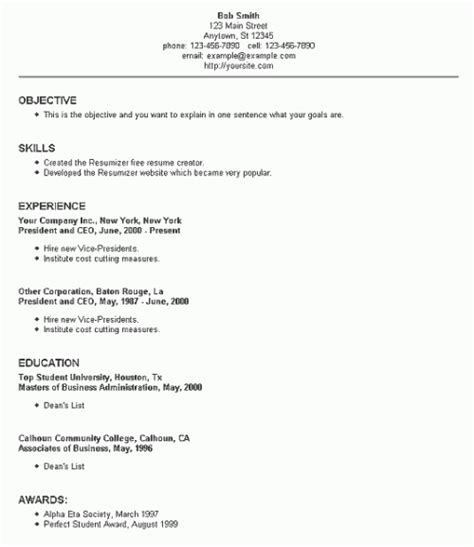 Chicago Resume Template by 50 Free Resume Cv Templates