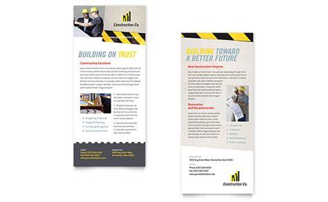 rack card design template industrial commercial construction rack card template design