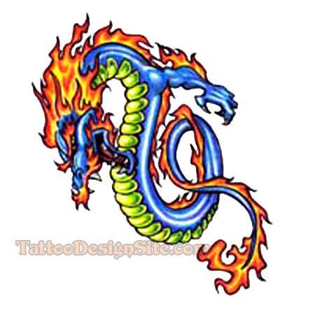 blue dragon tattoo designs blue