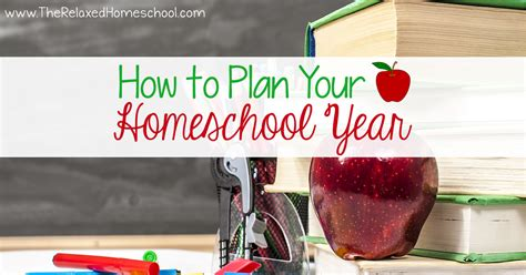 how to plan your homeschool year what you should