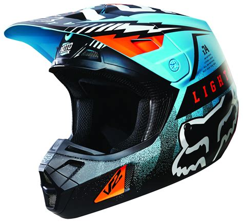 motocross gear fox fox racing v2 vicious helmet 30 89 98 off revzilla