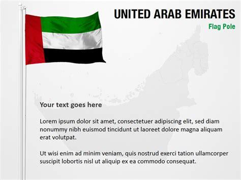 powerpoint templates uae united arab emirates flag pole powerpoint map slides