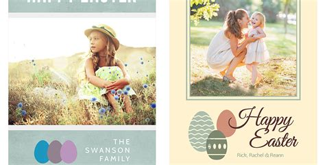 Free Easter Card Templates Photoshop by Easter Card Template Set Photobacks