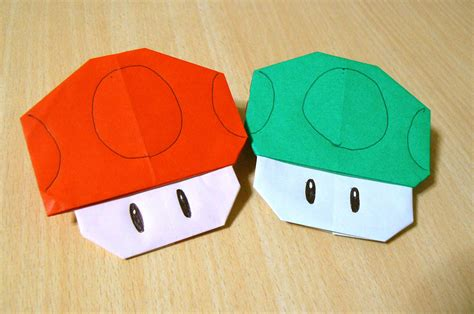 How To Make Origami Mario - origami l du pliage de papier chignon mario bros