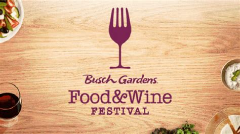 busch gardens food and wine festival kicks with
