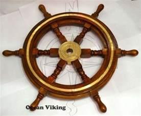 Wooden Steering Wheel For A Boat Boat Steering Wheel Wood Ebay