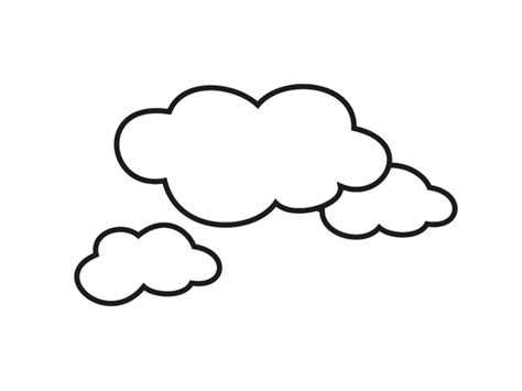 Cloud Drawing Coloring Pages Coloring Pages Clouds