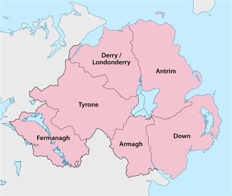 irish county becomes first in english speaking world to counties of northern ireland wikipedia