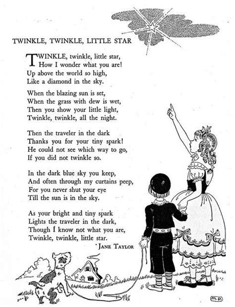 twinkle twinkle little star coloring page mother goose 213 best nursery rhymes images on pinterest vintage