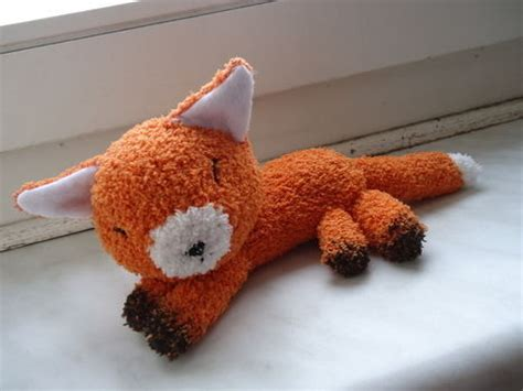 sock plush a fox made out of a of sock free tutorial