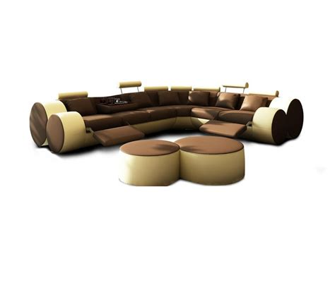 sectional sofa ottoman dreamfurniture divani casa 3087 modern leather