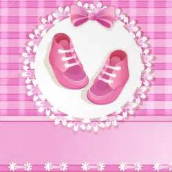 pink baby shower card with baby shoes stock vector 169 loradoraa 13743788