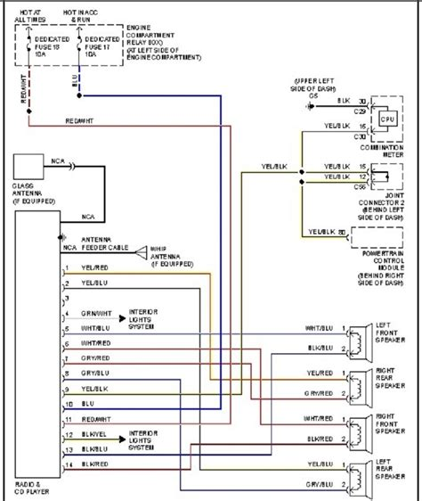 mitsubishi eclipse wiring diagram mitsubishi eclipse radio wiring diagram 2003 wiring