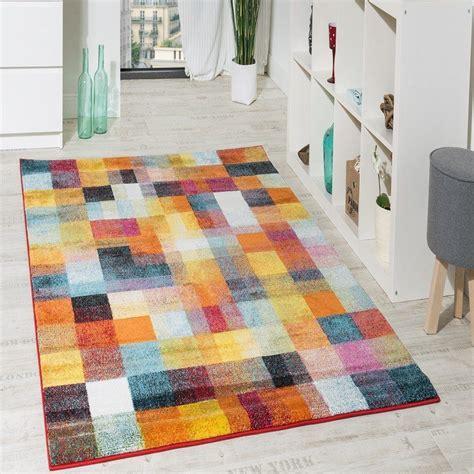 liquidacion alfombras alfombra moderna colorida de cuadros multicolor
