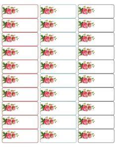 printable address labels vintage flower address labels cute free address labels with a