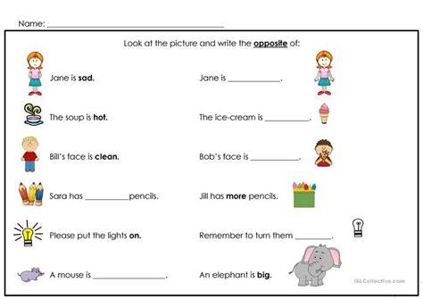 number names worksheets 187 opposite words worksheets for kindergarten free printable worksheets