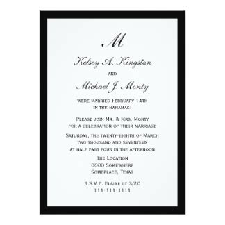 Invitation Letter Reception 1 000 Post Wedding Reception Invitations Post Wedding Reception Announcements Invites Zazzle