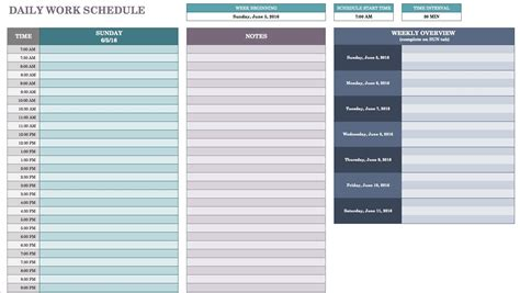 Free Daily Schedule Templates For Excel Smartsheet Excel Schedule Template