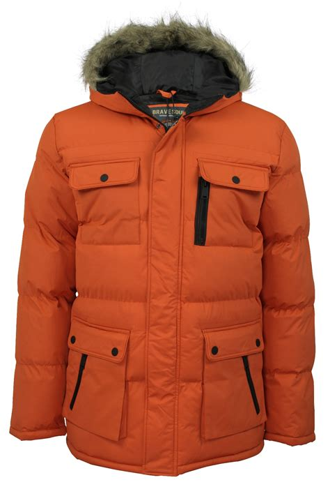 Jaket Winter Winter Coat Jaket Parka 24 mens winter parka jackets coats by brave soul everest hooded ebay