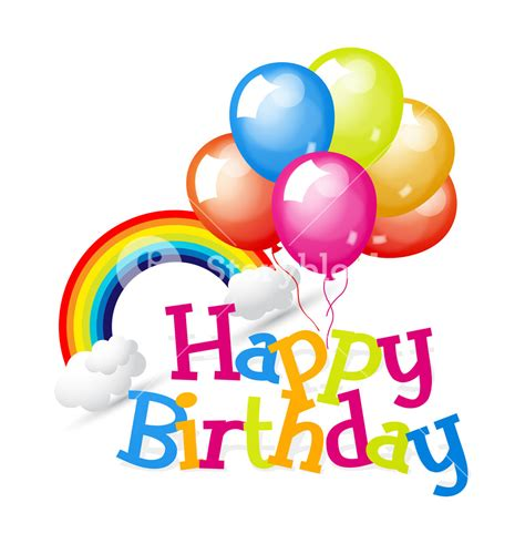 licensing agreement template free birthday balloons with rainbow and clouds royalty free