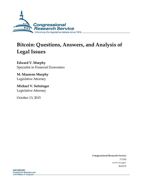 bitcoin questions bitcoin questions answers and analysis of legal issues